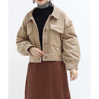 ダブルクローゼット(w closet)のコーデュロイ 裏キルトジャケット(Gジャン/デニムジャケット)