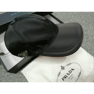 PRADA - 美品prada プラダ キャップ ブラック 帽子
