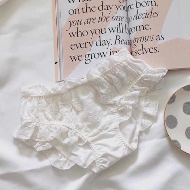 Kastane(カスタネ)のBelle 17kg *cotton fril bra* レディースの下着/アンダーウェア(ブラ&ショーツセット)の商品写真