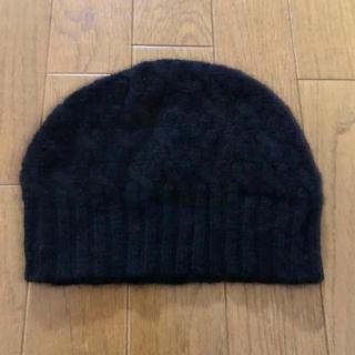 セオリー(theory)のセオリー  カシミヤ  ニット キャップ 帽子 黒 ブラック(キャップ)