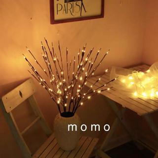 枝型LEDライト♡モダン♡インテリア♡電池式♡照明♡北欧ナチュラル♡ランプ♡茶色(ドライフラワー)