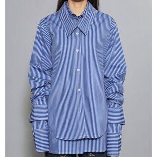 DELADA DOUBLE SHIRT BLUE STRIPES