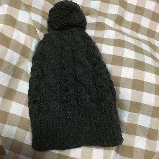 サマンサモスモス(SM2)のSM2ダークブラウンニット帽子(ニット帽/ビーニー)