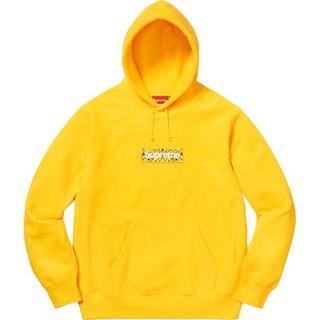 シュプリーム(Supreme)のS Supreme Bandana Box Logo Hooded 黄 国内正規(パーカー)