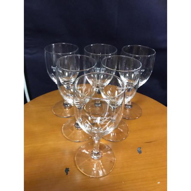 サントリー(サントリー)の新品 サントリー・アンティーク 特製ワイングラス 6客セット インテリア/住まい/日用品のキッチン/食器(グラス/カップ)の商品写真