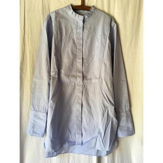 IENA - IENA・バンドカラーロングシャツ・サックスブルー