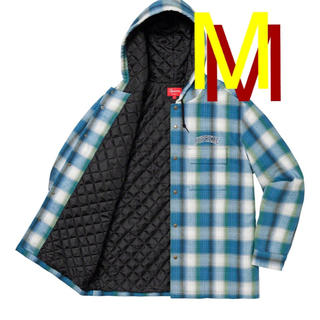 Supreme - Quilted Hooded Plaid Shirt supreme シャツ