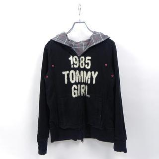 トミーガール(tommy girl)のトミー tommy girl ロゴプリント フルZIPリバーシブルパーカ(パーカー)
