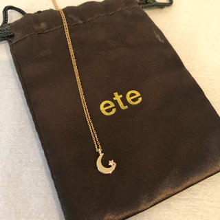 ete - ete 三日月モチーフネックレス