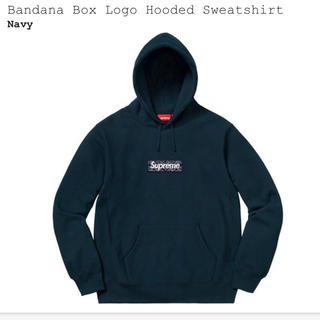 Lサイズ supreme box logo navy