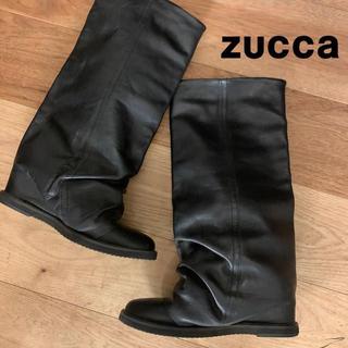 ズッカ(ZUCCa)の【美品】ZUCCa ズッカ パンツブーツⅡ ブラック Mサイズ(ブーツ)