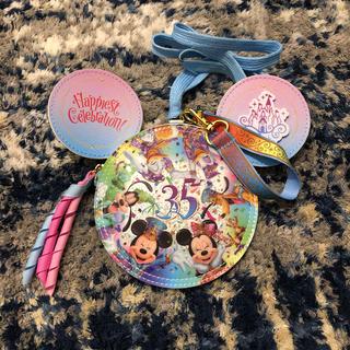 ディズニー(Disney)の【美品】ディズニーランド35周年記念パスケース(キャラクターグッズ)