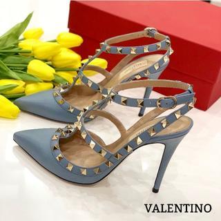 VALENTINO - 1250 美品 ヴァレンティノ ロックスタッズ パンプス