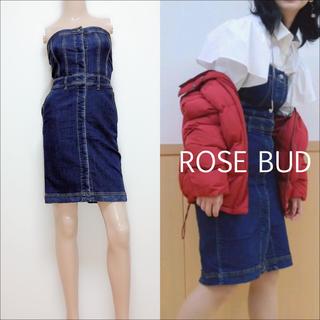 ROSE BUD - ROSE BUD デニム ベア ワンピース♡ビームス ロンハーマン ungrid