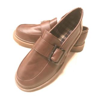 ブラウンのローファー 24.5㎝(ローファー/革靴)