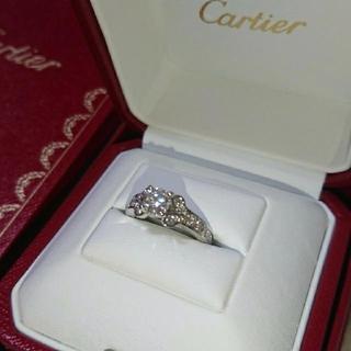 カルティエ(Cartier)のCartier バレリーナ ソリテール パヴェ ダイヤリング 0.59CT (リング(指輪))