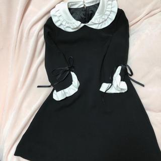 evelyn - milkcocoa ミルクココア バイカラー ワンピース 襟付き 襟 袖リボン