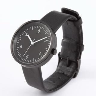 ムジルシリョウヒン(MUJI (無印良品))の《新品未使用》Wall Clock・無印良品☆人気☆  黒(腕時計(アナログ))