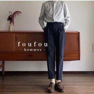 COMOLI - foufou  men's adjust straight pants
