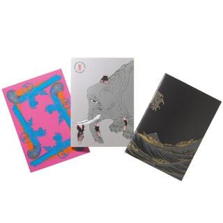 ショウガクカン(小学館)の和樂 付録 DANCING All HOKUSAI ノートブック3冊セット(ノート/メモ帳/ふせん)