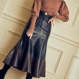 snidel - herlipto Faux Leather Midi Skirt ハーリップトゥ