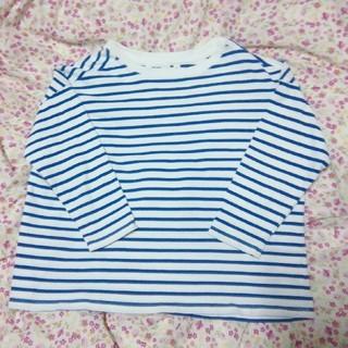 ニコアンド(niko and...)のニコアンド 青のボーダー シャツ 厚手(Tシャツ/カットソー(七分/長袖))