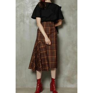 ルシェルブルー(LE CIEL BLEU)の LE CIEL BLEU Check Half Flare Skirt(ロングスカート)