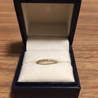 ヴァンドームアオヤマ(Vendome Aoyama)のVENDOME AOYAMA ダイヤ ハーフエタニティ リング 0.14 K18(リング(指輪))