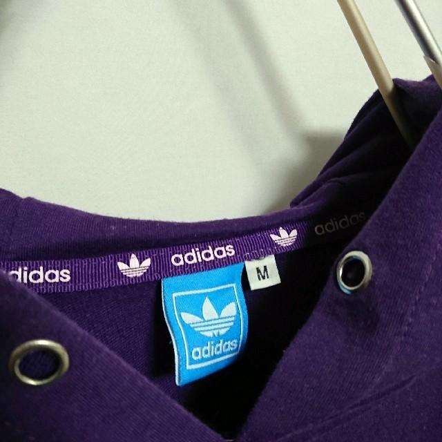 adidas(アディダス)のアディダス adidas トレフォイルロゴ パーカー キッズ/ベビー/マタニティのキッズ服女の子用(90cm~)(ジャケット/上着)の商品写真