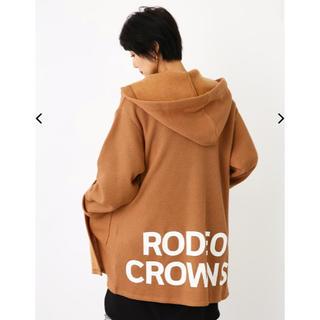 RODEO CROWNS WIDE BOWL - 新品 ロデオクラウンズ ワイドボウル  ニットライク 裏起毛 ガウン 茶 F