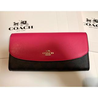 COACH - COACH シグネチャー F54022 長財布 ☆ エンベロープ