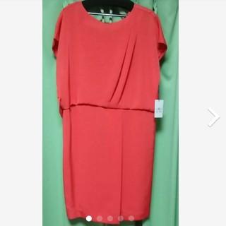 グレースコンチネンタル(GRACE CONTINENTAL)のグレースコンチネンタル ワンピース ドレス コーラル(ミディアムドレス)