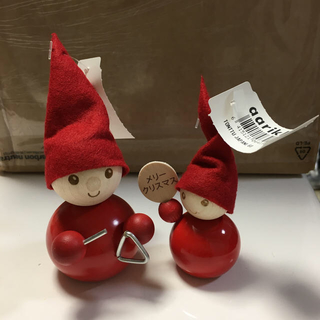 aarikka トントゥ 2個セット トライアングル&メリークリスマス