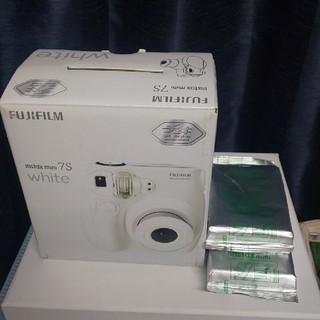 富士フイルム - チェキ intax mini 7S white フィルム2つつき