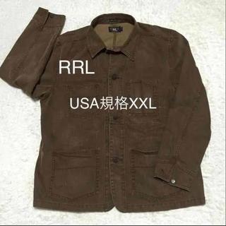ダブルアールエル(RRL)の大きいサイズ美品RRLラルフローレン ボルドー カバーオール(カバーオール)