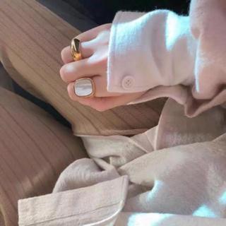 アパルトモンドゥーズィエムクラス(L'Appartement DEUXIEME CLASSE)のセリーヌ リング ホワイト 刻印あり(リング(指輪))