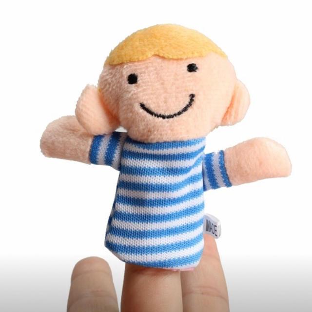 指人形 家族 6人セット キッズ/ベビー/マタニティのおもちゃ(知育玩具)の商品写真