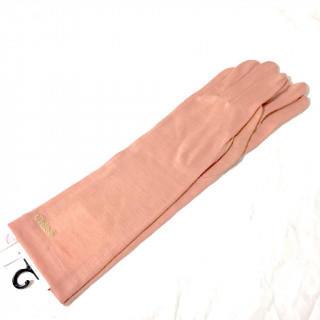 クロエ(Chloe)の新品ピンク  アームカバー 春夏秋冬 手袋(手袋)