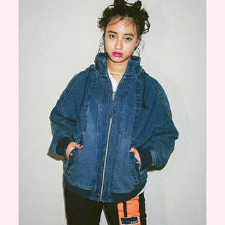 X-girl - 【美品】 雑誌掲載品 X-girl デニム ジャンパー