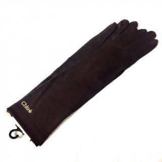 クロエ(Chloe)の新品 ブラウン ストーン アームカバー 春夏秋冬 手袋(手袋)