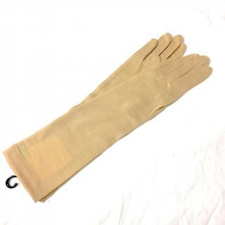 クロエ(Chloe)の新品 ベージュ ストーン  アームカバー 春夏秋冬 手袋(手袋)