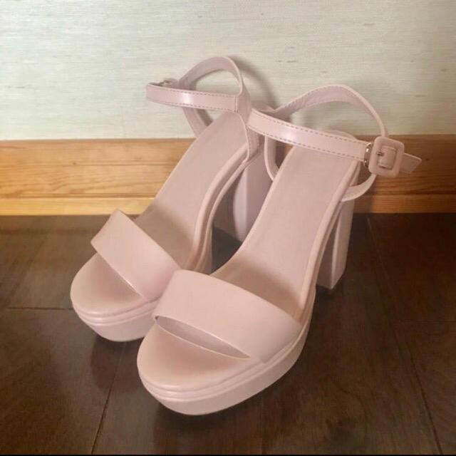 Lily Brown(リリーブラウン)のリリーブラウン ストラップサンダル ピンク S レディースの靴/シューズ(サンダル)の商品写真