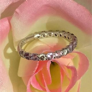 k18ダイヤとピンクサファイアのリング(リング(指輪))