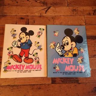 Disney - レトロ ディズニー ミッキー ミニー バインダー 2冊セット