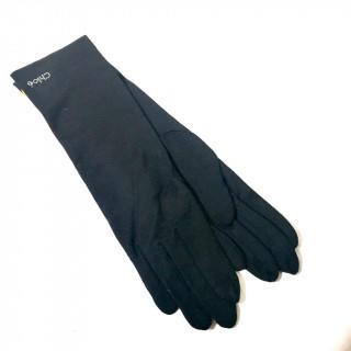 クロエ(Chloe)の新品 黒 シルバー ストーン アームカバー 春夏秋冬 手袋(手袋)