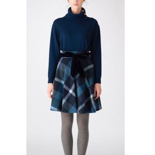 バーバリーブルーレーベル(BURBERRY BLUE LABEL)の《新品》ブルーレーベルクレストブリッジ フレアスカート(ひざ丈スカート)