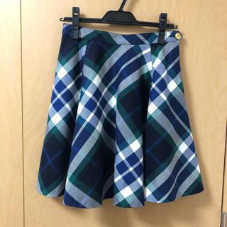 バーバリーブルーレーベル(BURBERRY BLUE LABEL)のブルーレーベルクレストブリッジ スカート(ひざ丈スカート)