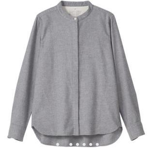 MUJI (無印良品) - タグ付き オーガニックコットン フランネル スタンドカラーシャツ サイズM