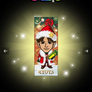 GENERATIONS - 片寄涼太 千社札ステッカー 居酒屋えぐざいる クリスマス サンタ トラステ レア