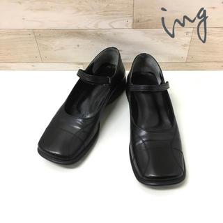ing - 【ing】革靴 (S) ストラップシューズ マジックテープ